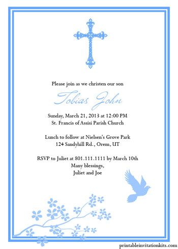 This Instant Downloadable is for a Baptism Invitation Template in - lunch invitation templates