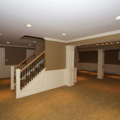 Basement Photos Open Staircase Design Ideas Pictures Remodel And Decor Basement Remodeling Basement Makeover Basement Design