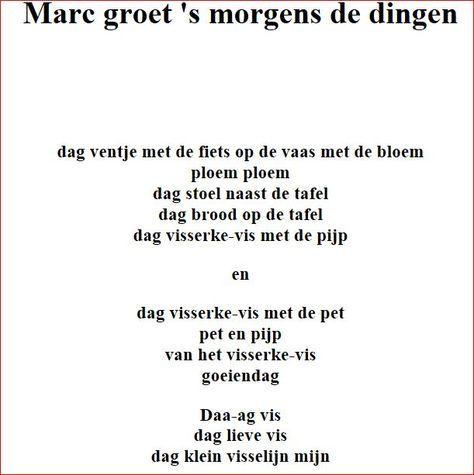 Marc Groet Smorgens De Dingen Paul Van Ostayen