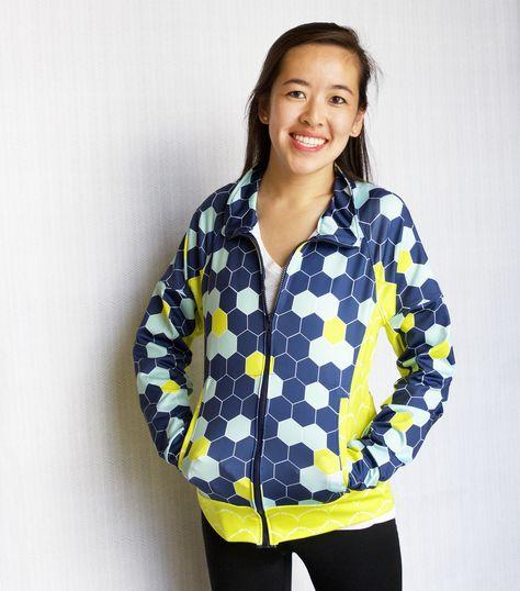 Sport Lycra Zip Jacket | by Spoonflower Fabrics - made with Jalie Pattern 2795