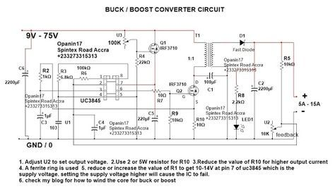 Step Up Step Down Dc Converter Circiuit Circuit Converter Dc Dc Converter