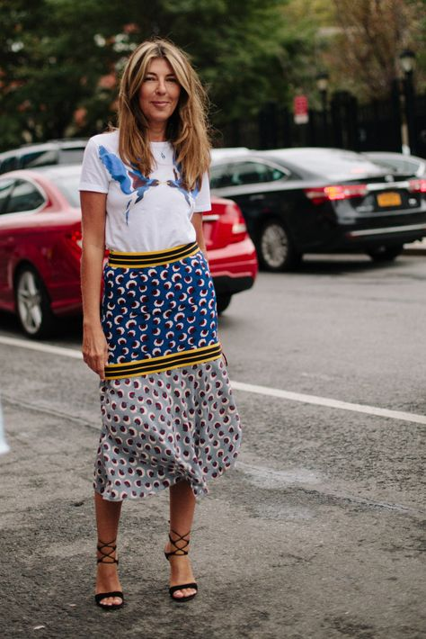 Nina Garcia is the Creative Director at Marie Claire, but, to many, she may be best known for her role as a judge in Project Runway. With a classic and elegant style, her outfits are great inspirations.