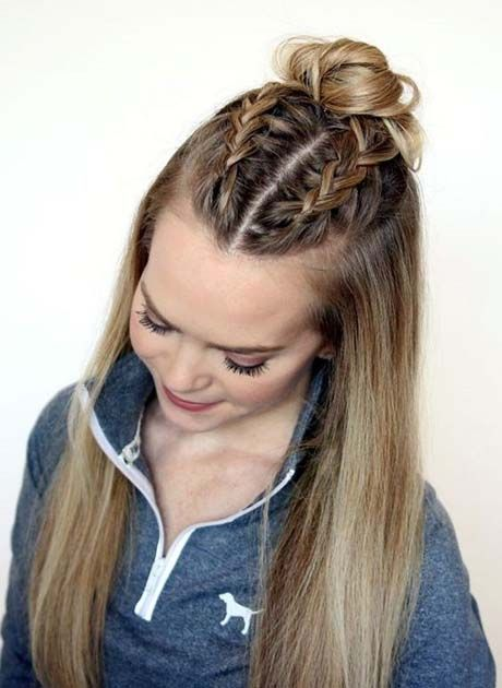 Easy Back To School Hairstyles For 2018 2019 Latest Fashion Trends Hottest Hairstyles Ideas Inspiration Sporty Hairstyles Thick Hair Styles Hair Styles