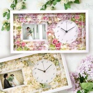 スーパーセール 花時計フォトフレーム付き贈呈品 両親贈呈品 祖父母