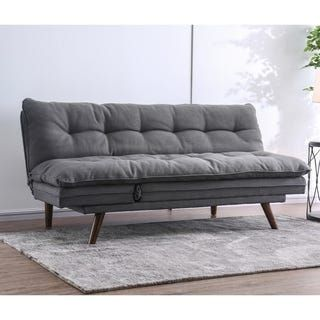 Carson Carrington Slavonice Grey Linen Futon With Images Furniture