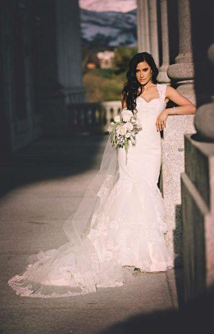 51 Trendy Wedding Makeup Latina Brides Ruffle Sleeve Wedding