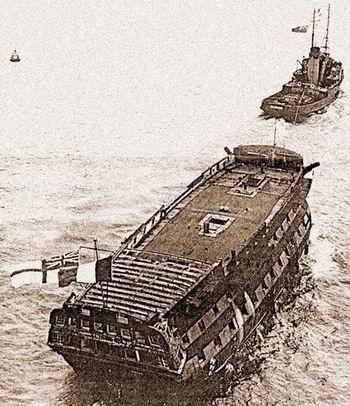 Afbeeldingsresultaat voor ship with flags being sunk