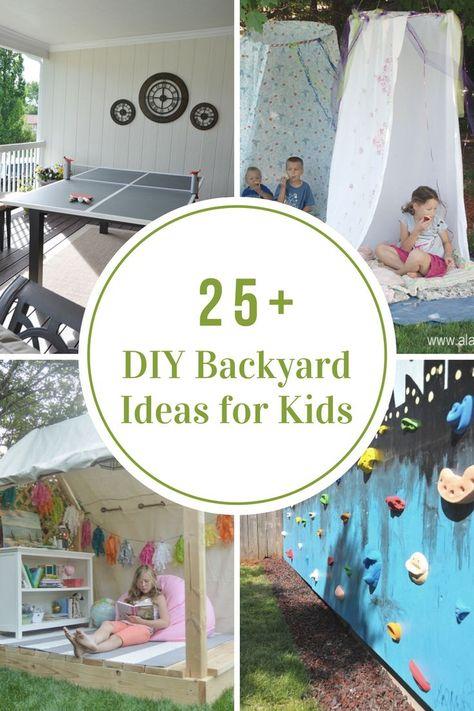 Outdoor | Backyard Decor | Kids | Look how fun these DIY Backyard Ideas for Kids are!