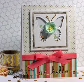 Stop and Stamp the roses: Butterfly shaker card