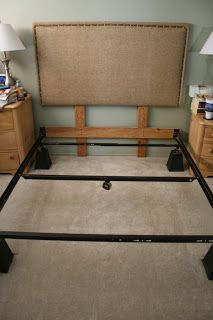 How to attach a DIY headboard to the bedframe instead of the wall.