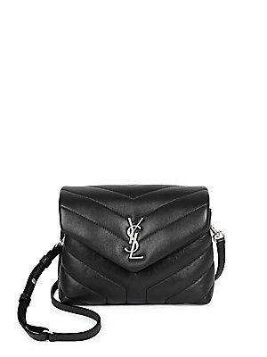 4c045baa455 SAINT LAURENT Toy Lou Lou Silvertone Strap Flap Bag | Fashion | Bags ...