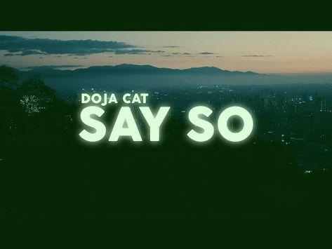 Doja Cat Say So Lyrics Lyric Video Sayings Tik Tok Lyrics Cats