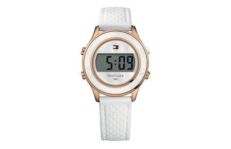 17881ea35 Tommy Hilfiger Ladies Digital White Silicone Strap Watch 1781032