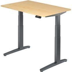 Sitz Steh Schreibtisch Elektrisch 120x80cm Ahorn Graphit Hammerbacher Modern Design Schreibtischideen Schreibtisch Modern Schreibtisch