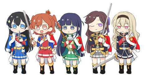Anime  Revue Starlight  rubber Keychain Key Ring Race Straps Cosplay