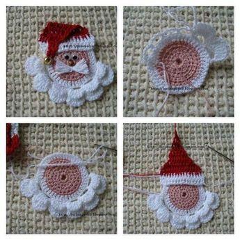 Santa Ornament Free Crochet Pattern - MyKingList.com