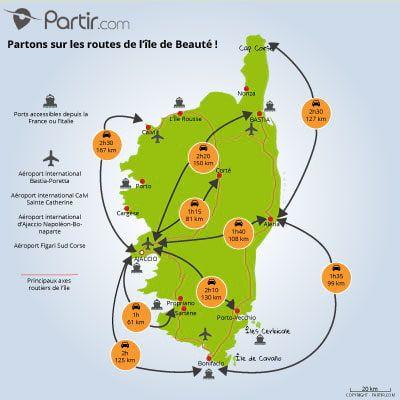 carte de corse voyages et vacances