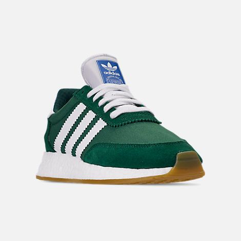 1bc622e9 Three Quarter view of Women's adidas I-5923 Runner Casual Shoes in Collegiate  Green/White/Gum 3
