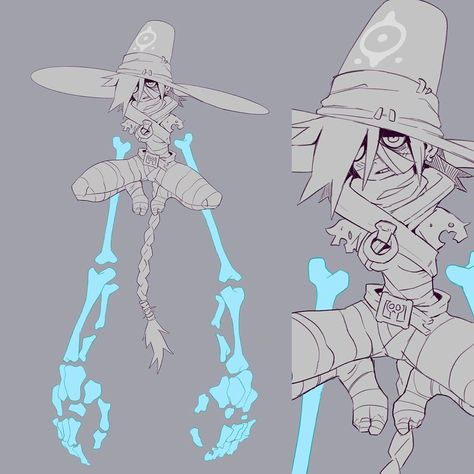 Some wip ☠️ . . . . . #art #drawing #sketch #wip #myart #artstyle #witch #witchcraft #characterdesign #character #characterdesigns…