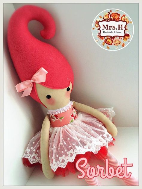 """From my Kandi range which are a whooping 23"""" tall, wearing a pretty tutu layered with embroidered lace.They are CE marked and suitable from birth although actually bigger than the average newborn Sorbet is doll no.2014/125"""