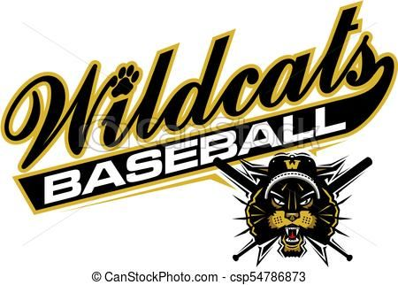 wildcats baseball vector stock illustration royalty free rh pinterest com wildcat clipart free wildcats clipart free