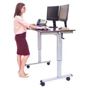 Image Result For Desk On Wheels Adjustable Height Standing Desk Adjustable Standing Desk Adjustable Desk