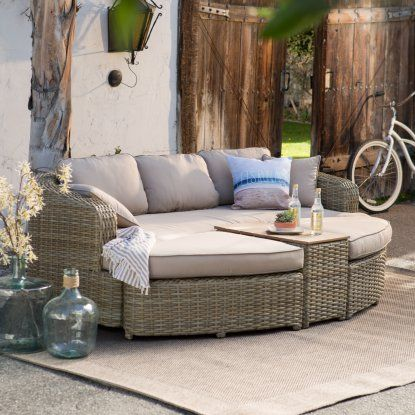 Miraculous Outdoor Belham Living Wingate All Weather Wicker Sofa Daybed Lamtechconsult Wood Chair Design Ideas Lamtechconsultcom