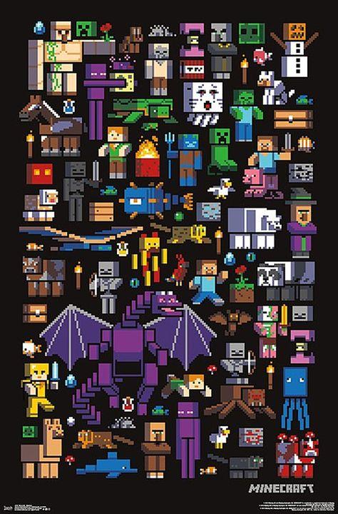 Minecraft Poster Mobbery Minecraft Kunst Minecraft