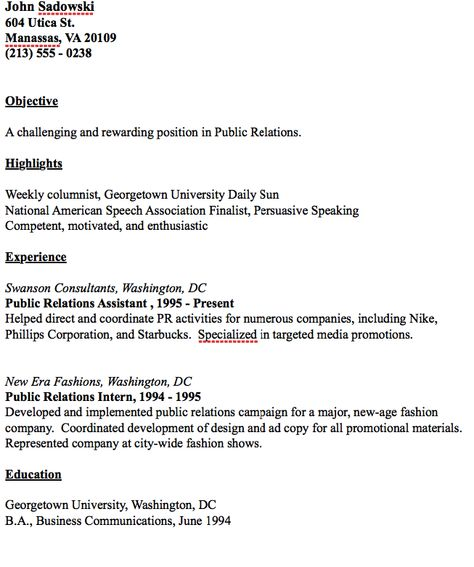 Example Of Public Relations Resume - http\/\/resumesdesign - public relations resume sample