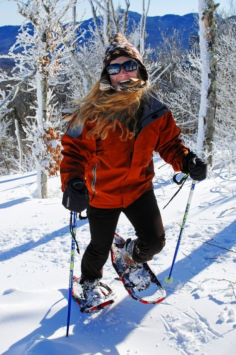 Winter Feels Good! FREE Snowshoeing tours each hour, 9AM-4PM, Sat. Jan. 10, 2015. http://www.SkiSugar.com National Winter Trails Day at Sugar Mountain Resort. [Photo copyright Todd Bush, courtesy Ski Sugar.]