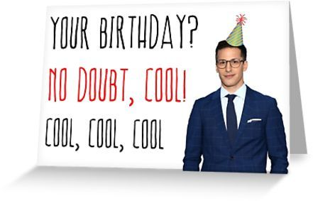 Birthday Card I Love Brooklyn Nine-Nine Greeting Card