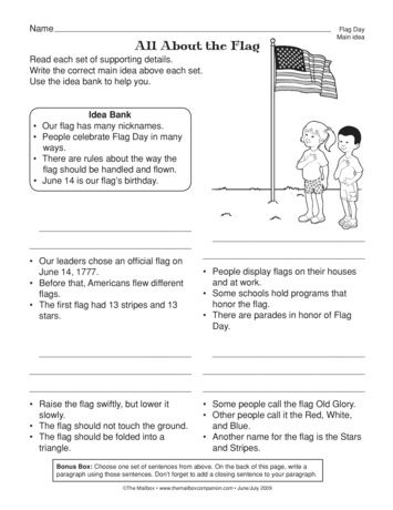This Social Studies Seasonal Worksheet Pairs Flag Day And Main Idea Practice A Freebie From Themailbox Main Idea Social Studies Days Worksheet