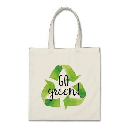 Go Green Recycle Tote Bag Zazzle Com Recycle Tote Bag Green Tote Bag Green Tote