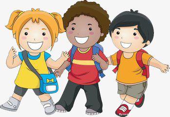 أطفال المدارس حرف كرتون طالب Png صورة للتحميل مجانا Cartoon Clip Art Friends Clipart Kids Clipart