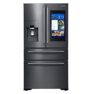 Samsung 22 Cu Ft Family Hub 4 Door Frenchdoor Smart Stainless Steel French Door Refrigerator French Door Refrigerator Counter Depth French Door Refrigerator