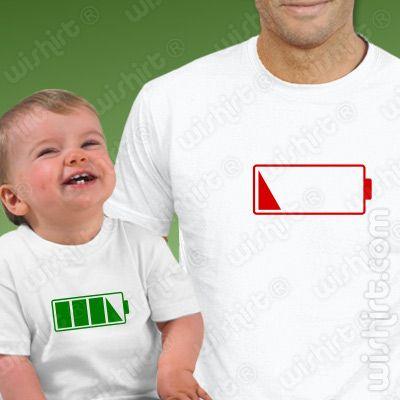 T Shirts Sem Bateria Bebé Prenda Dia Do Pai Natal