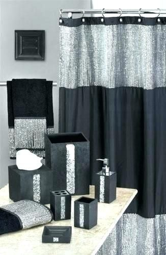 Silver Bathroom Accessories Sets Ideas Black Shower Curtains Gray Shower Curtains Silver Bathroom