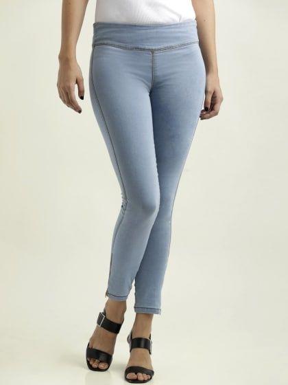 shop for official best site lovely luster Light Blue Super Skinny Fit Denim Stretchable Jeggings ...