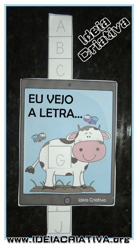 Alfabeto Eu Vejo A Letra Vaquinha No Tablet Educacao Infantil
