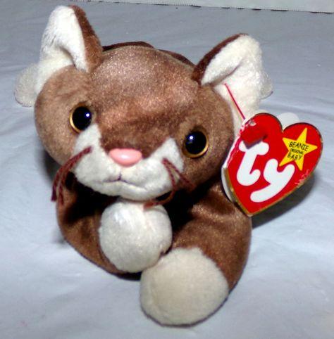 28dc960548a Beanie Baby Original Pounce Vintage Retired Stuffed Animal 1997  Ty ...