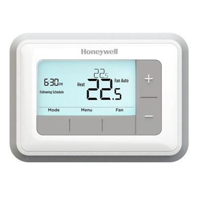 Honeywell Thermostat Rth7560e1019 U T5 7 Day Programmable Home Thermostat Heating Cooling Daylight Savings Time