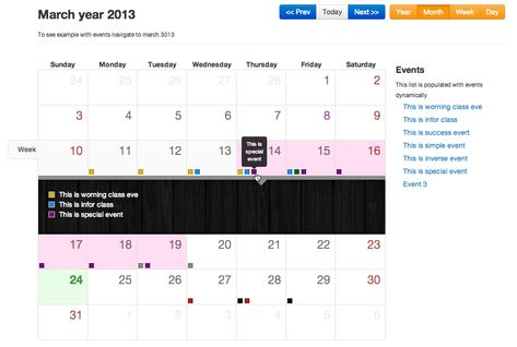 Bootstrap Full Calendar  Rwg  Intranet Technical Resources