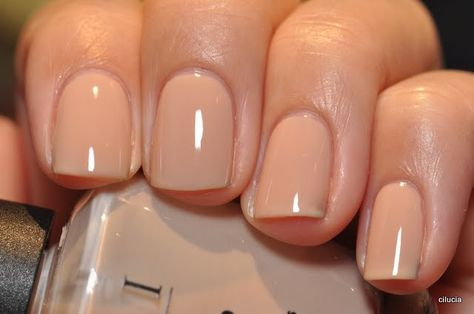 Nude/light colored nail polish gives off a very classy and polished look