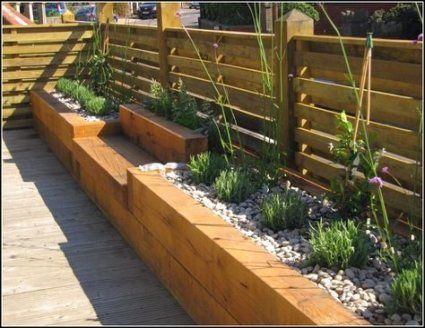 Backyard Landscaping Along Fence Raised Beds Garden Boxes 47