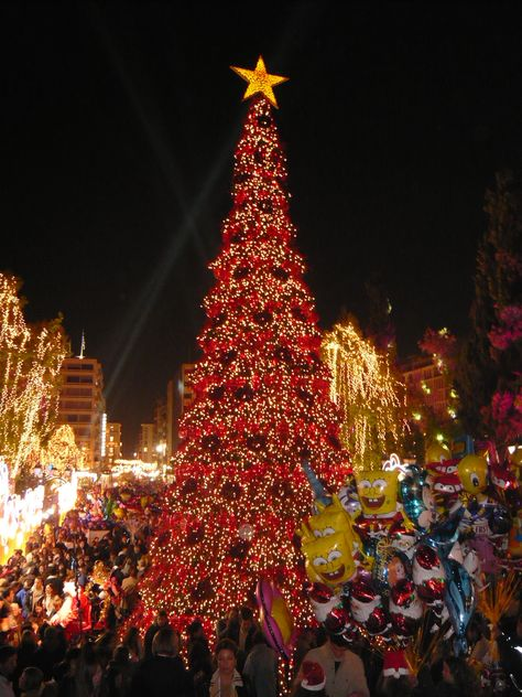 Christmas tree in Syntagma square, Athens, Greece Where they get the tree is beyond my brain, but would love to enjoy the holidays in Greece! #ViatorTravel  @Kirstin Nielsen Nielsen Nielsen Nielsen Nielsen Nielsen Hein.com