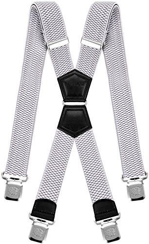 Mens Suspenders X Style Very Strong Clips Adjustable One Size Fits All Heavy Duty Braces | Jodyshop