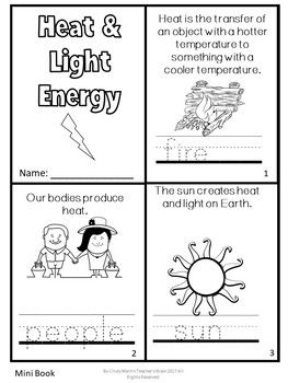 Forms Of Energy Activities Sound Heat Light Freebie With Images