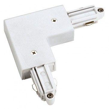 Eckverbinder für 1-Phasen HV-Stromschiene, Aufbauversion, Schutzleiter aussen, weiss / LED24-LED Shop