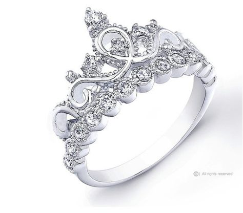 A sterling silver ring that'll turn your finger into a princess.