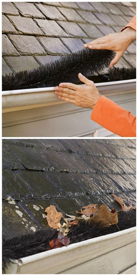 Drop These Durable Plastic Gutter Guards Into Your Gutters And You Won T Need To Worry About Clogs From Leaves Pine Needles O Diy Gutters Gutter Guard Gutters